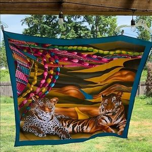Vintage Sarong Tiger 🐅 Swim Suit Cover up/Scarf